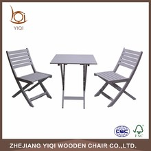 Wooden Folding Chair Set With Table