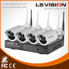 LS Vision HD 1mp 720P wifi cctv face detection camera H.265 nvr 4ch with 1 year warranty