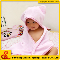 China dealers high quality cotton baby hooded towel with custom logo