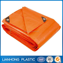 waterproof uv protection fire retardant pe tarpaulin, PE tarpaulin blue/orange for Iraq, Joddarn market 26kgs