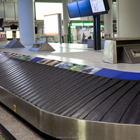 Small and Middle airport used Inclined plane baggage handling carousel system overlapping scales type for airport LMM QP2B