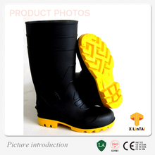Whole Black Steel Toe PVC Protection Boots