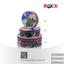 Tinplate Metal Type and gift/food Use round biscuit cookies tin box/can
