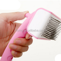 High quality stainless steel needle retractable dog grooming brush