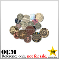 cheap gold plated souvenir coins blank custom brass metal tokens