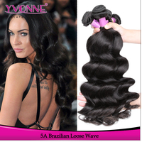 Wholesale Brazilian Loose wave Virgin hair sew in human hair extensions