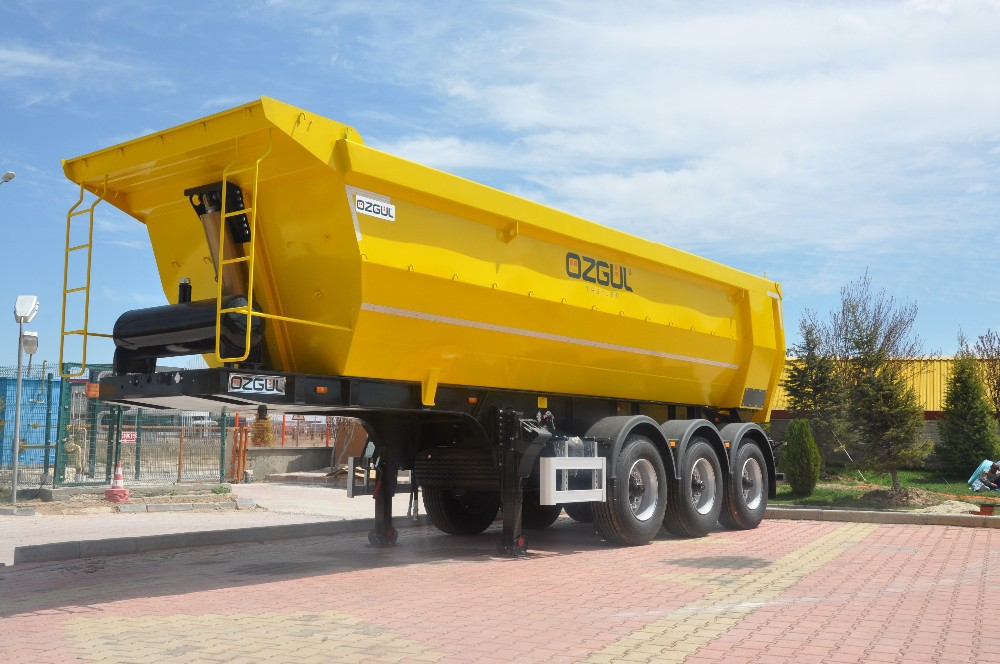 3 AXLES HALF PIPE TYPE TIPPER SEMI TRAILER