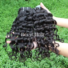 100% virgin cambodian Italian wave hair weave,6A-7Atop grade hair wholesale