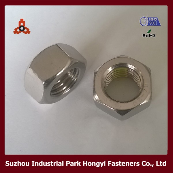 DIN934 SS304 A2-70 Hexagon stainless steel hex nut M20