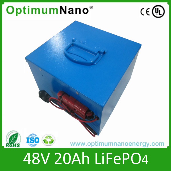 factory price LiFePO4 48v 20ah e-bike battery with bms