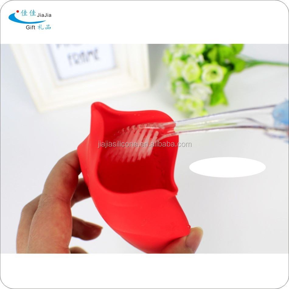 Silicone shaped collapsible cups/pomotion silicone leaf shape traveling tooth mug