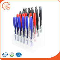 Lantu Crazy Promotional Three Colours 0.5mm Plastic Roller Tip Pen For Students