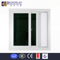 ROGENILAN office interior aluminum frame double glass sliding reception window