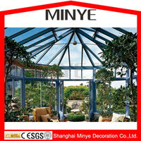2013 hot sell sun room/ sunroom / glass house/ winter garden/greenhouse made in china shanghai