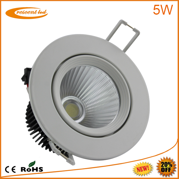 factory led downlighting 5w cob led downlights vs halogen