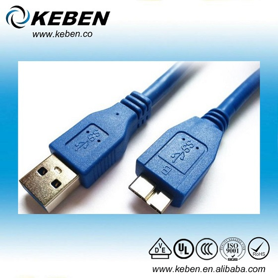 High speed data transfer male usb 3.0 to esata adapter cable
