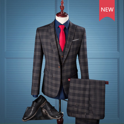 3 pieces latest design formal coat pant men's suit business suit