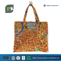 Recycled PP Woven Shopping Bag With Zipper