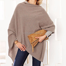 15PKCSP07 Lady fall winter fashion light 100% cashmere wool poncho sweater