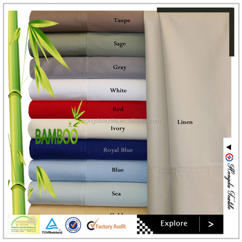 300T Bamboo bed sheets wholesale / bamboo bedding set