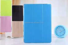 DIHAO Silk Pattern Tri-Fold Leather Cover Crystal Clear Back Case for Apple ipad 2/3/4/5/Air/mini