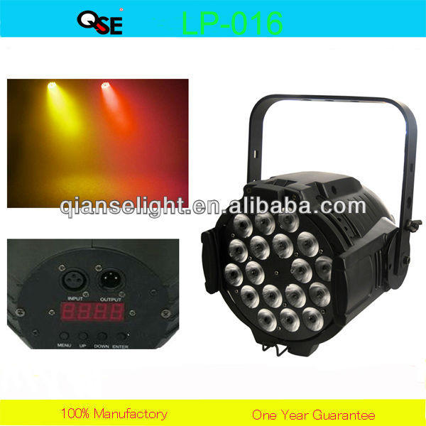 18x10W 4 in 1 High Power Par 64 Led Par Can Disco Light