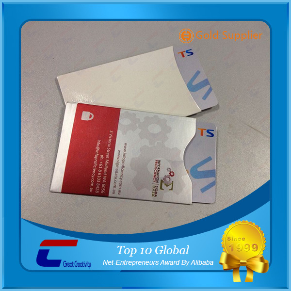 aluminum foil RFID blocking card sleeve and Passport Protection Sleeve