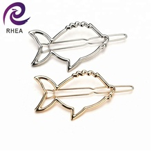 Simple Hollow Oval Geometry Fish Smooth Side Clip Hairpin Hair Accessories Jewelry