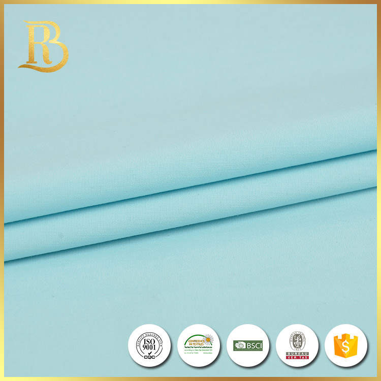 China factory supply custom made oem blue twill tc poplin fabric