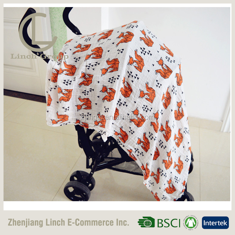 LC B-203 4 in 1 Stretchy Car Seat Cover Baby Carseat Canopy Privacy Nursing Cover