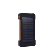 10000mAh External Battery Portable Charger Bateria Externa Pack solar Power Bank Dual USB Powerbank with LED Light