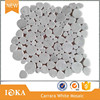 Irregular Shaped Mosaic Tiles, White Carrara Marble for Building Decorative
