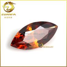 wholesale horse eye marquise cut garnet cubic zirconia nepal gemstone