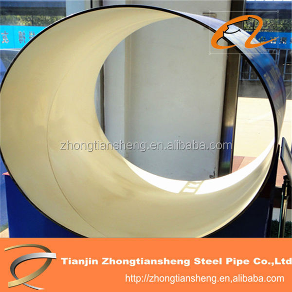 High quality plastic coating steel pipe for coal mine,PE large diameter coating pipes