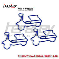 motorbike shaped paper clips, various designs paper clip holder