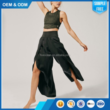 Wholesale Custom Comfortable Cotton Sweat Yoga Women Palazzo Pants