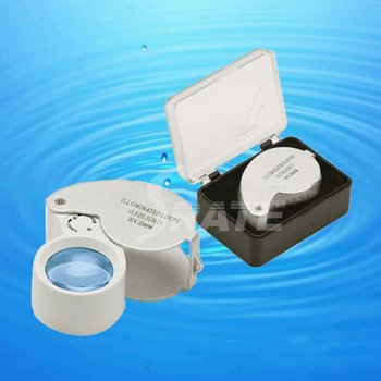 MG21011 40X25mm Jewelers Magnifying Eye Loupe with LED Light