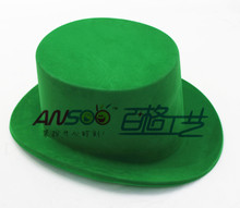 Factory wholesale funny party velvet flat hat with new design idea