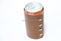 High quality leather look PU cooler /stubby holder