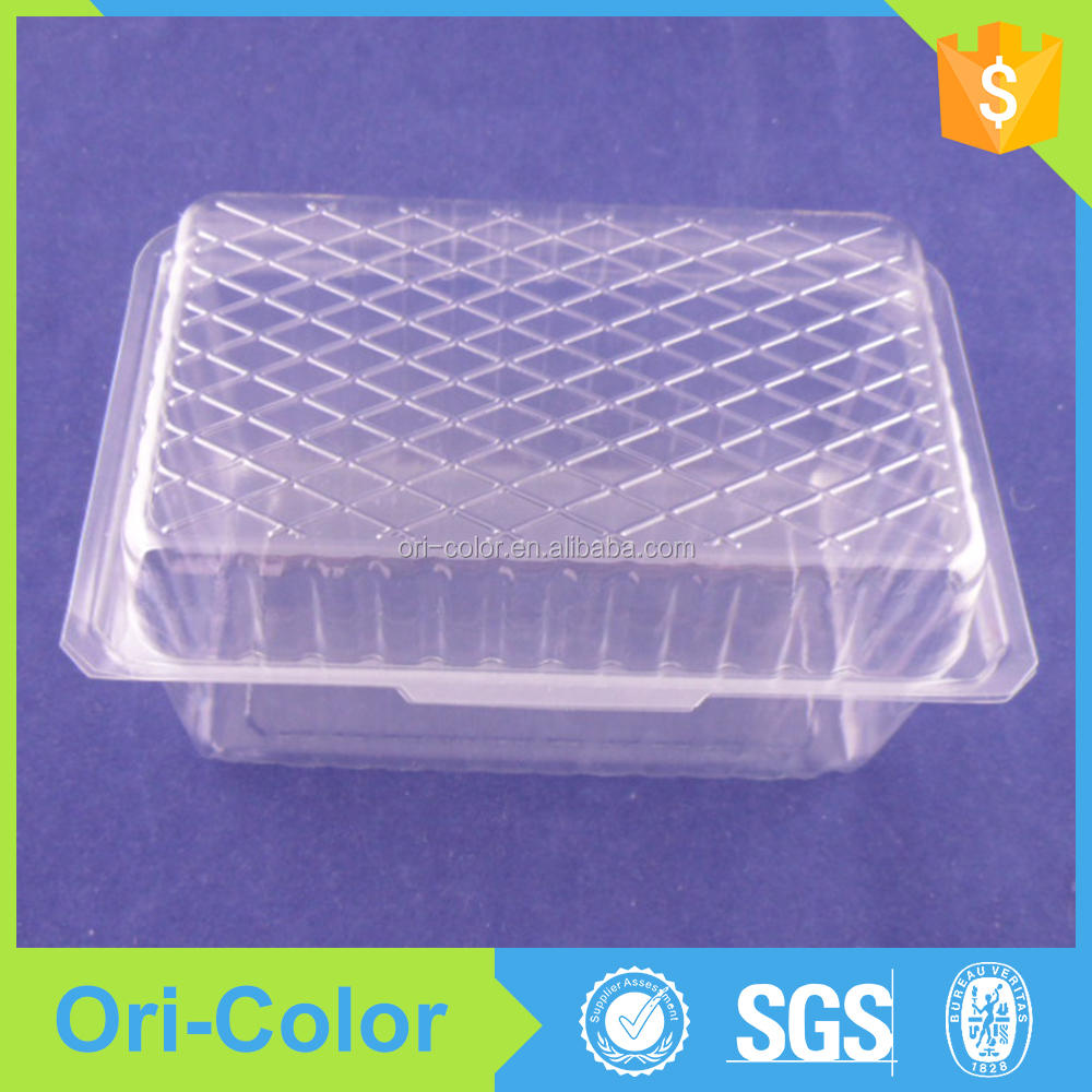 China factory cheap plastic cake slice food container packaging