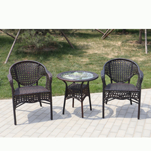 PE rattan anti-UV Stackable Chairs for garden