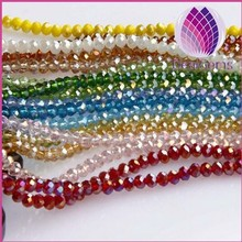 wholesale factory price 2mm roundelle AB crystal glass beads