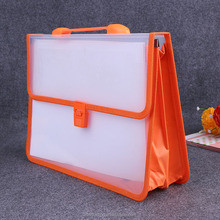 Wholesale fabric side transparent clear holder file packet document case