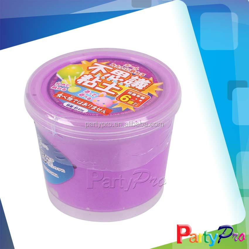 Novelty Assorted Color Kids Handmade Joking Funny Magic Clay Cup Purple Putty Slime Toy