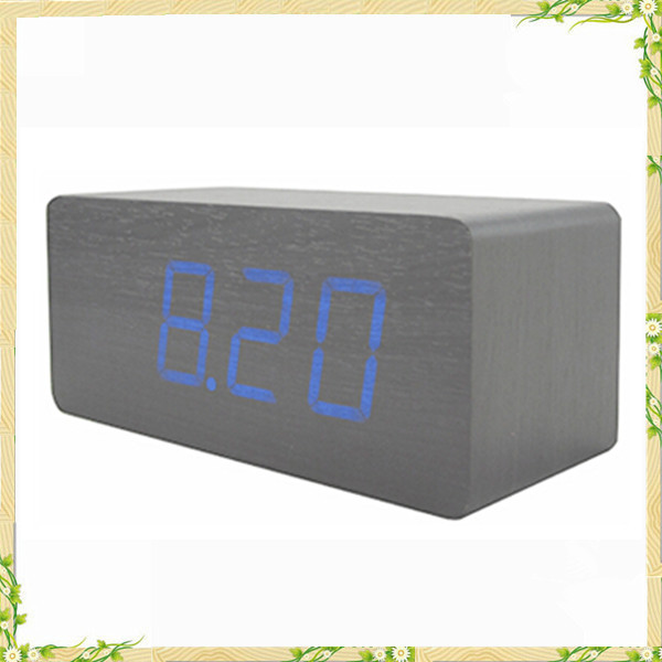 2016 hot sale weather stations handmade craft mini alarm clock