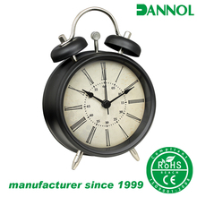 3 inch metal alarm clock modern table clock small desk clock