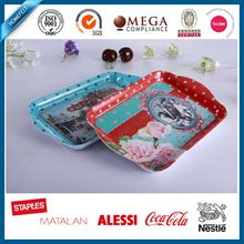 custom newly design melamine serving tray with handles