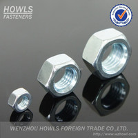 stock carbon steel galvanized colored and A2-70 A2-80 SS304/316/316L ISO4032/ISO4035 hex nut