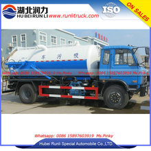 Cesspit Emptier Truck with Water Cycle Vacuum Pump 10Tons Sewage Tank