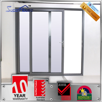 double tempered clear/frosted glass door sliding design with German hardware